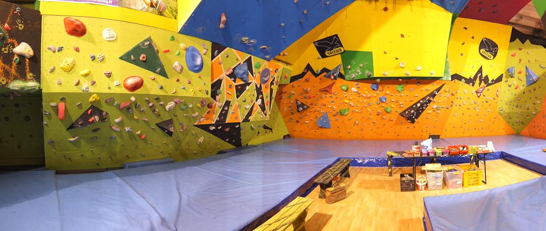 La sala di arrampicata di El Cap